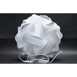 Papierlampe Punkte, LED Weiß