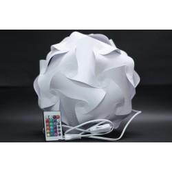 Papierlampe Punkte, LED Bunt